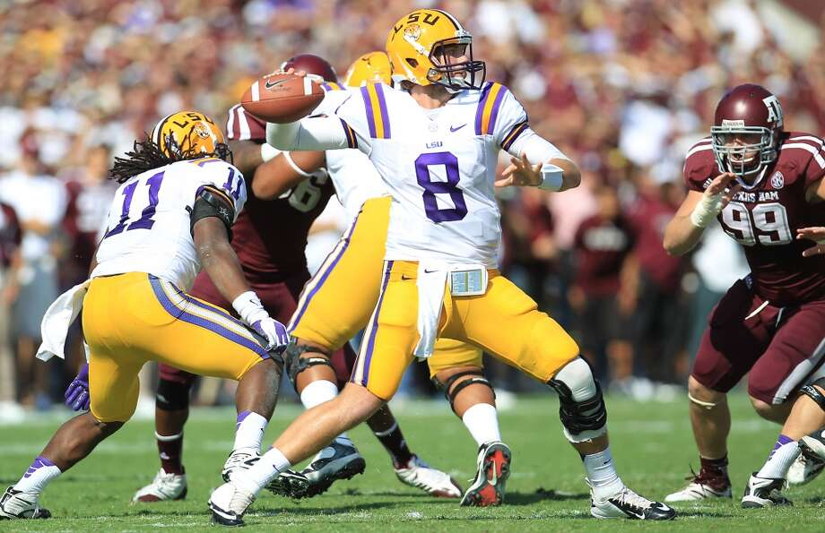 Zach Mettenberger  LSU  Redshirt senior  6-5, 235 pounds  Career stats: 5,783 yards passing, 35 TD, 15 INT, 61.8 completion percentageShowed improvement during his senior year at LSU, but a torn ACL near the end of the regular season will hurt his draft stock. Photo: Karen Warren, Houston Chronicle