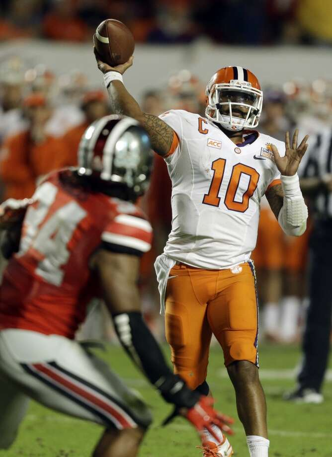 Tajh Boyd  Clemson  Redshirt senior  6-1, 225 pounds  Career stats: 11,904 yards passing, 107 TD, 39 INT, 64.3 completion percentage, 1,165 yards rushing, 26 TD.   The Clemson product was a First-team All-American in 2012 and broke the ACC's single-season touchdown record Photo: Wilfredo Lee, Associated Press