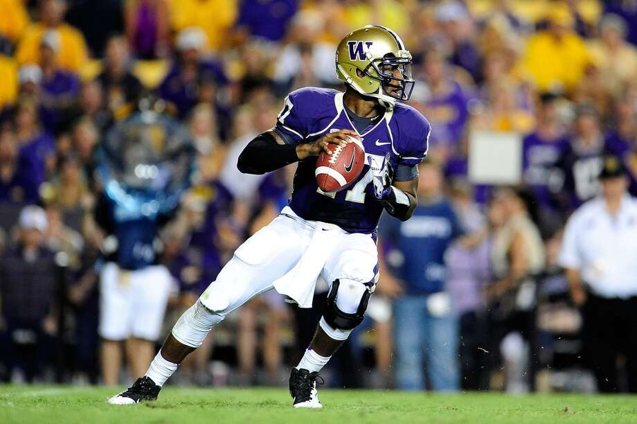 Keith Price   Washington  Redshirt senior  6-1, 200 pounds  Career stats: 8,921 yards passing, 75 TD, 30 INT, 64 completion percentage, 10 rushing TD  Price, a three-year starter at Washington, was second in the Pac-12 in QB rating his senior year with, with a 153.3. He was 233-of-352 (66.2 percent) for 2,966 yards, 21 touchdowns and six interceptions. Photo: Stacy Revere, Getty Images