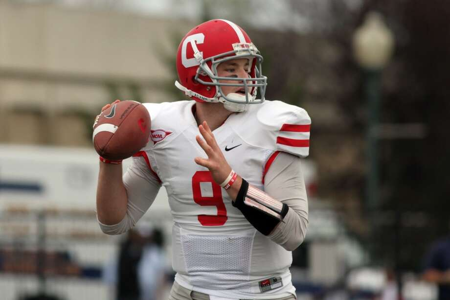 Jeff Mathews  Cornell  Senior  6-3, 224 pounds  Career stats: 11,284 yards passing, 72 TD, 42 INT, 62.3 completion percentage  The Cornell senior is the top QB in the FCS and has the size and arm strength to be an NFL quarterback. Mathews was 228-of-360 (63.3) for 2,953 yards, 22 touchdowns and 13 interceptions. Photo: Gregory Payan, Associated Press