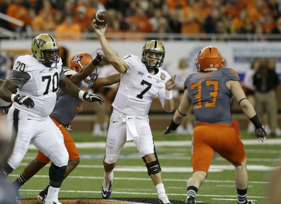 Tom Savage   Pittsburgh  Redshirt senior  6-4, 230 pounds  Career stats: 5,690 yards, 37 TD, 19 INT, 56.8 completion percentage  Savage was 238-of-389 (61.2 percent) for 2,958 yards, 21 touchdowns and nine interceptions in his lone season at Pitt. Photo: Duane Burleson, Associated Press
