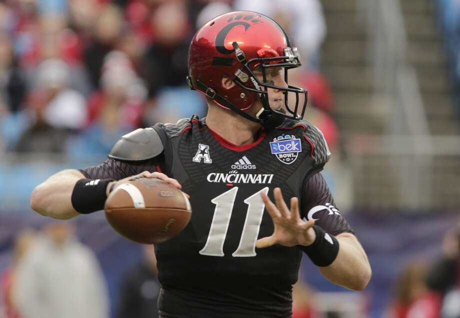 Brendon Kay  Cincinnati   Redshirt senior  6-3, 230 pounds  Career stats: 4,647 yards passing, 32 TD, 14 INT, 65.4 completion percentage, 503 yards rushing, 8 TD Photo: Nell Redmond, Associated Press