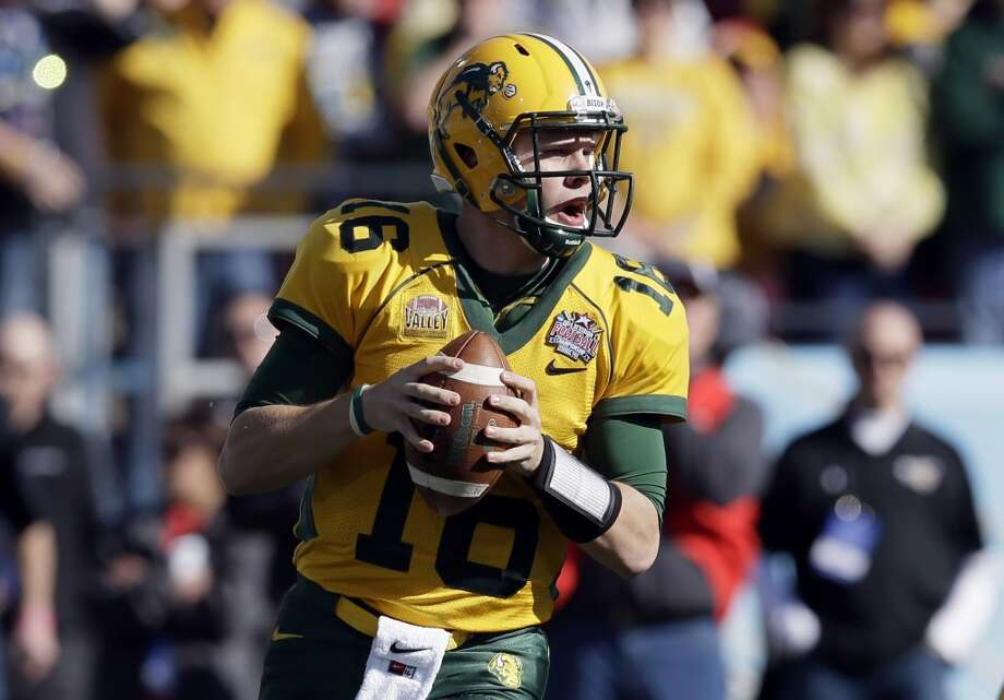 Brock Jensen   North Dakota State  Senior  6-2, 225 pounds  Career stats: 8,598 yards passing, 72 TD, 21 INT, 62.5 completion percentage, 1,240 yards rushing, 35 TD Photo: Tony Gutierrez, Associated Press