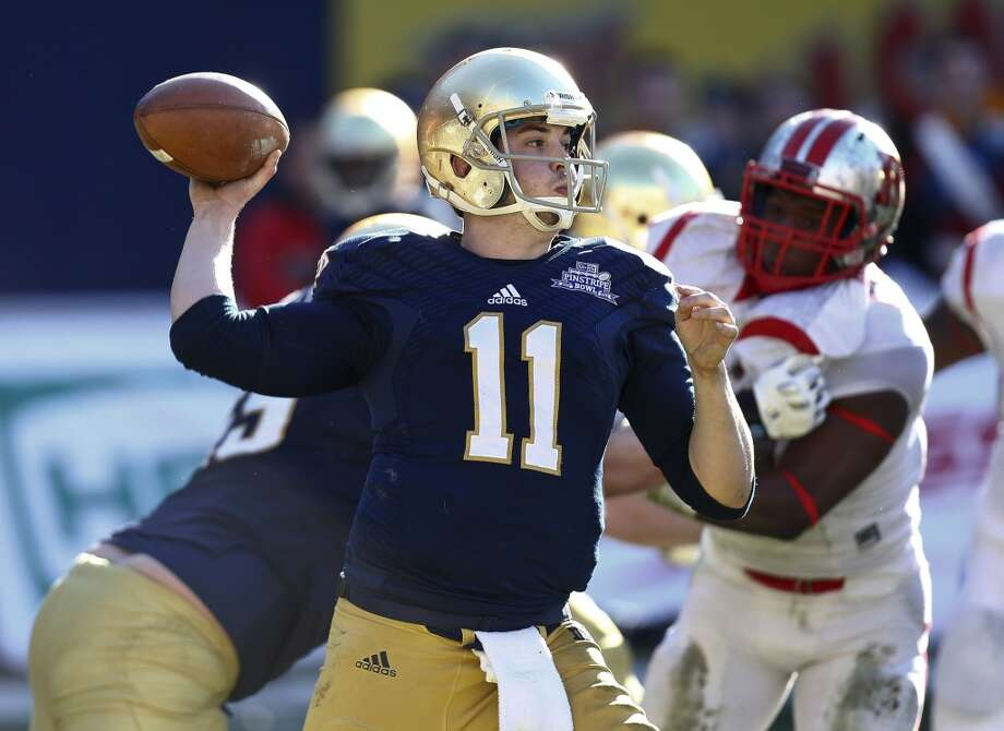 Tommy Rees   Notre Dame  Senior  6-2, 215 pounds  Career stats: 7,670 yards passing, 61 TD, 37 INT, 59.8 completion percentage Photo: Jeff Zelevansky, Getty Images