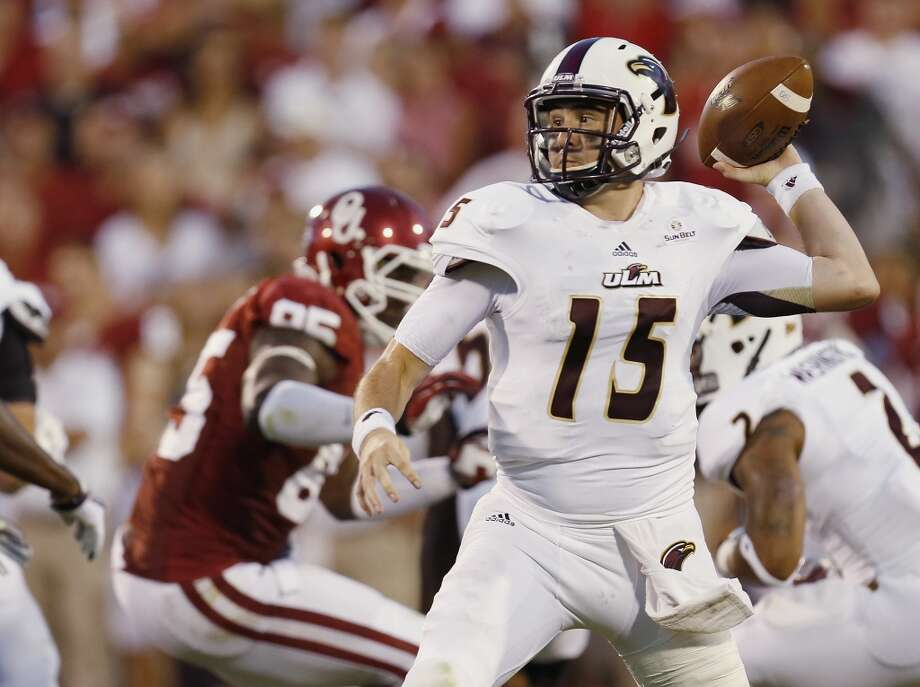 Kolton Browning   Louisiana-Monroe  Redshirt senior  6-1, 211 pounds  Career stats: 10,263 yards passing, 81 TD,38 INT, 60.3 completion percentage, 558 yards rushing, 18 TD Photo: Sue Ogrocki, Associated Press