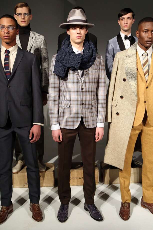 Blazers were a theme at the David Hart presentation at Industria Studios on February 5, 2014 in New York City. Photo: Monica Schipper, Getty Images