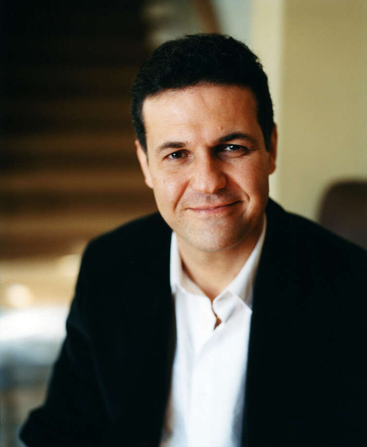 "Khaled Hosseini, author of ""The Kite Runner"" will speak about ""And the Mountains Echoed"" (Riverhead, 2013) when he visits Saratoga on Wednesday, Feb. 12, 2014. WAMC's Joe Donahue will hold an informal and unscripted conversation with Hosseini onstage at Skidmore's Arthur Zankel Music Center. The event is sold out, but it will be broadcast into several auditoriums on campus. (Elena Seibert)"