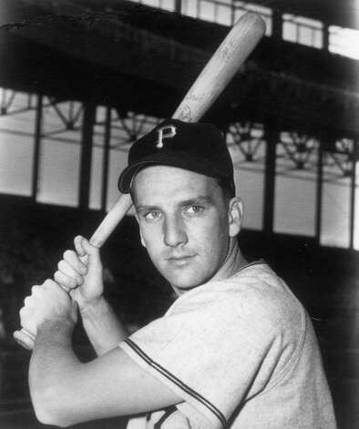 Ralph Kiner, Pittsburgh Pirates rookie outfielder, takes a batting pose before a game in Pittsburgh in 1946. Photo: Transcendental Graphics, Getty Images / 2006 Mark Rucker/Transcendental Graphics