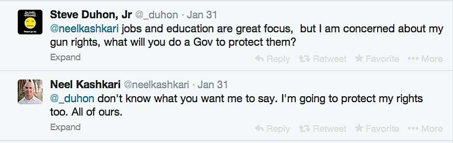 GOP gubernatorial hopeful Neel Kashkari engages potential voters with tweets about policy issues.