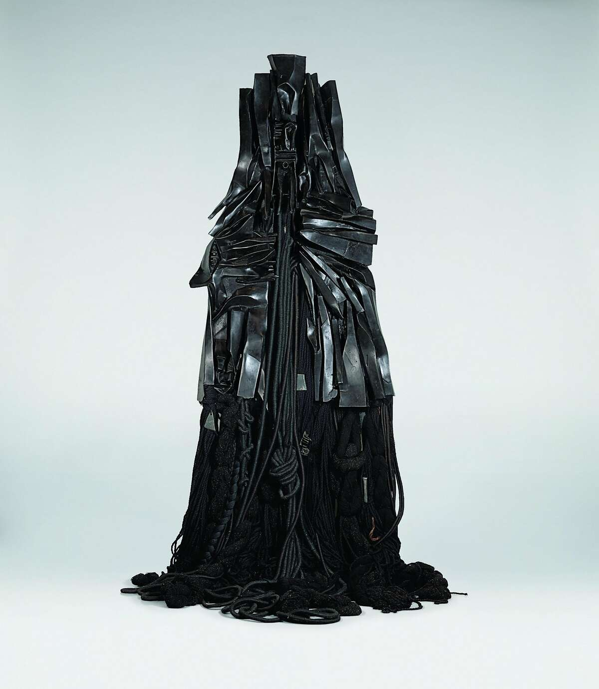 Barbara Chase-Riboud: Confessions for Myself, 1972; bronze paint, and wool; 120 x 40 x 12 in.; purchased with funds from the H.W. Anderson Charitable Foundation