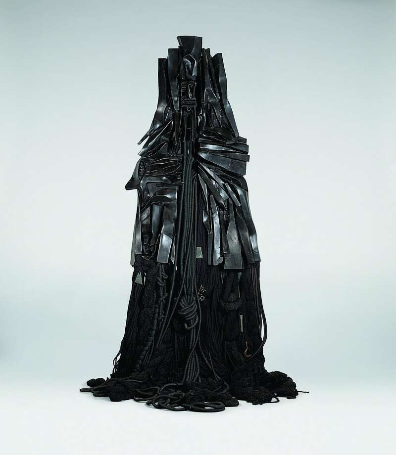 Barbara Chase-Riboud: Confessions for Myself, 1972; bronze paint, and wool; 120 x 40 x 12 in.; purchased with funds from the H.W. Anderson Charitable Foundation Photo: Courtesy Of The Artist