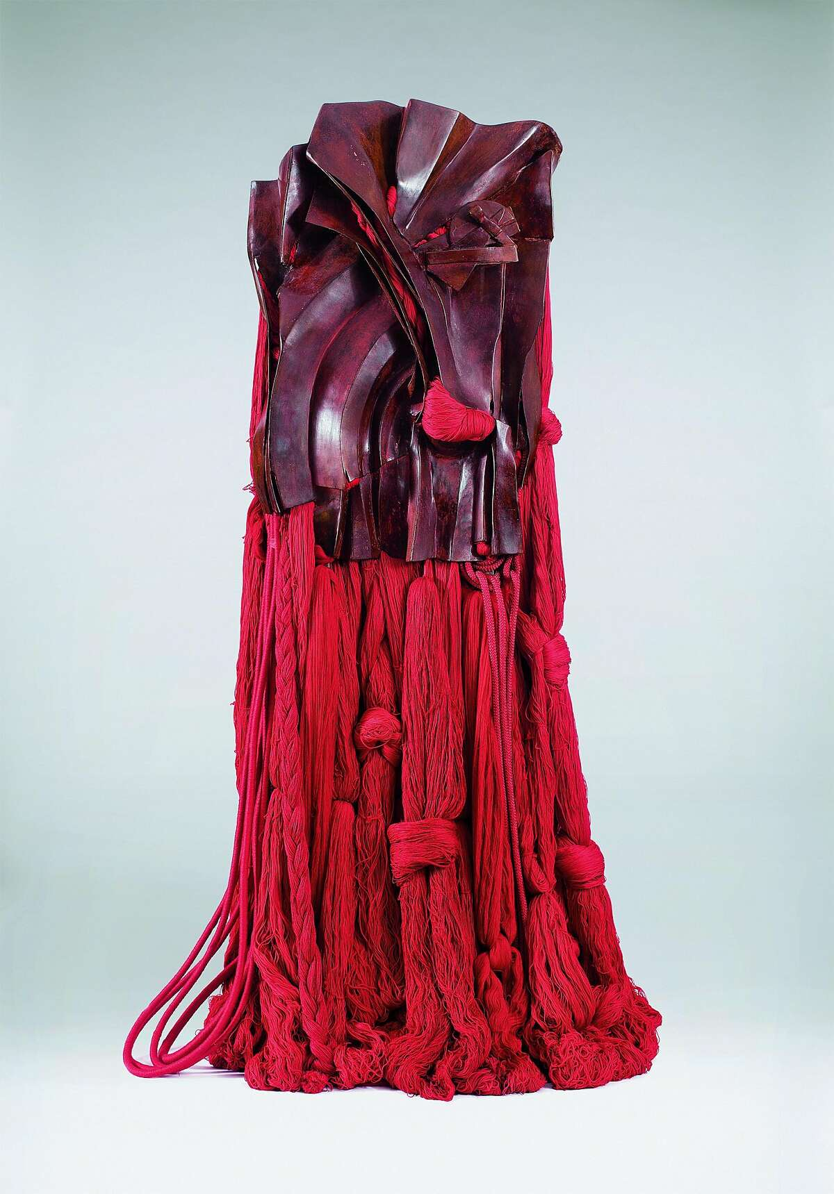 Barbara Chase-Riboud: All That Rises Must Converge / Red, 2008; red bronze, silk, cotton, and synthetic fibers; 74 ½ x 42 x 28 in.; courtesy of the artist.