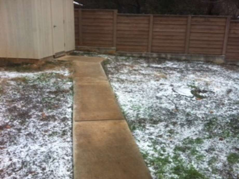 This photo of graupel in San Antonio was taken near U.S. 281 and Loop 1604 on Thursday, Feb. 6, 2014. Photo: Dorothy Blackshear/Courtesy Photo