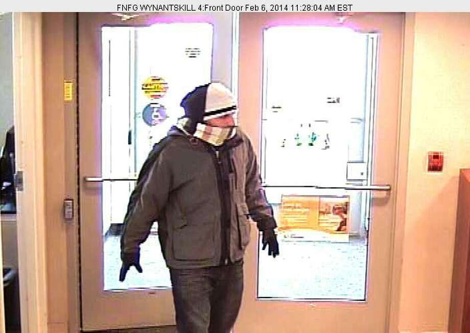 North Greenbush police are investigating the robbery of a Main Avenue bank on Thursday. (Surveillance photo provided by North Greenbush police)