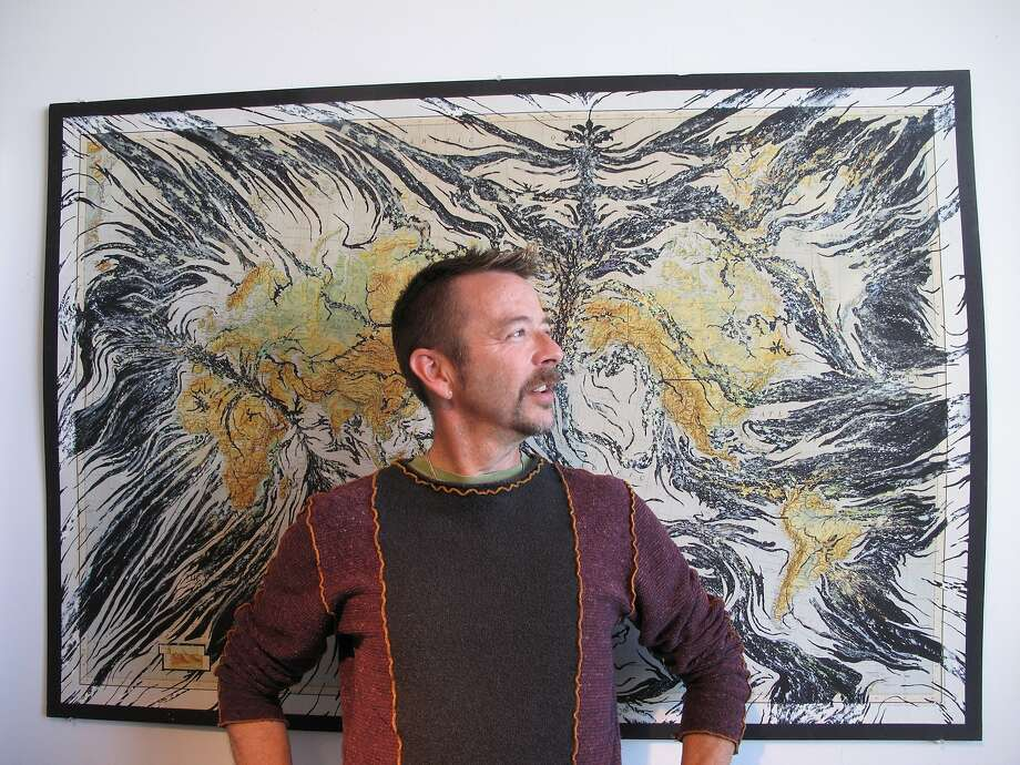 Artist Mark Garrett, who worked for 25 years as the chief framer at the Fine Arts Museum's Achenbach Foundation for Graphic Arts, is now focused full time on his own artwork. Photo: Henny Garfunkel