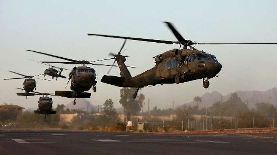 Sikorsky, the company that manufactures Black Hawk helicopters,cut hundreds of jobs earlier this month. Photo: File Photo