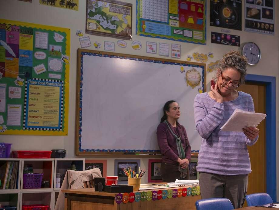 Heather (Stacy Ross) is Gidion's enigmatic teacher. Photo: David Allen