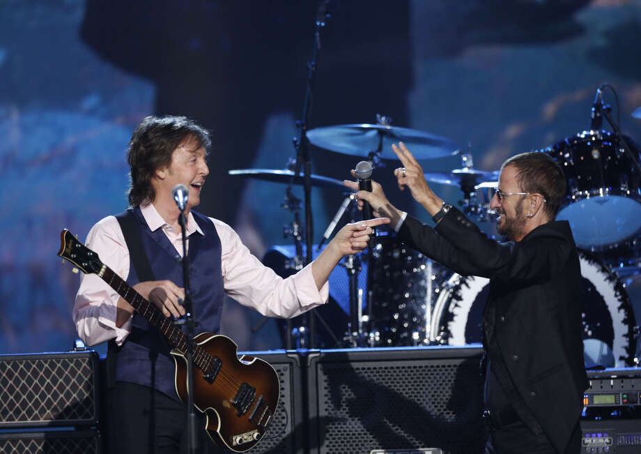Paul McCartney and Ringo Starr team up on a couple of beloved hits for Sunday's CBS Beatles special. Photo: CBS / �©2014 CBS Broadcasting Inc. All Rights Reserved