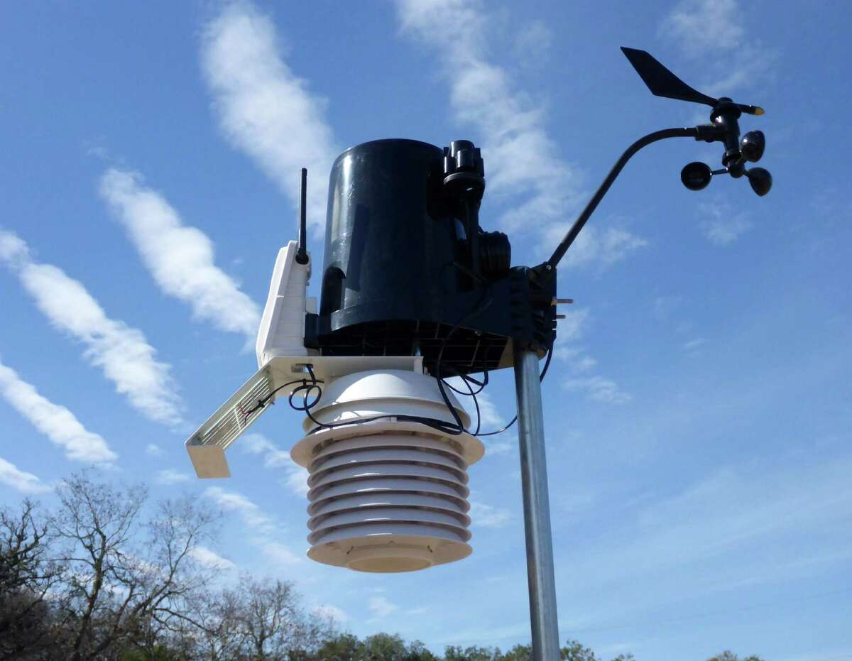 Temperature, humidity, ultraviolet, and other data measured by the Mims weather station is available to anyone online.