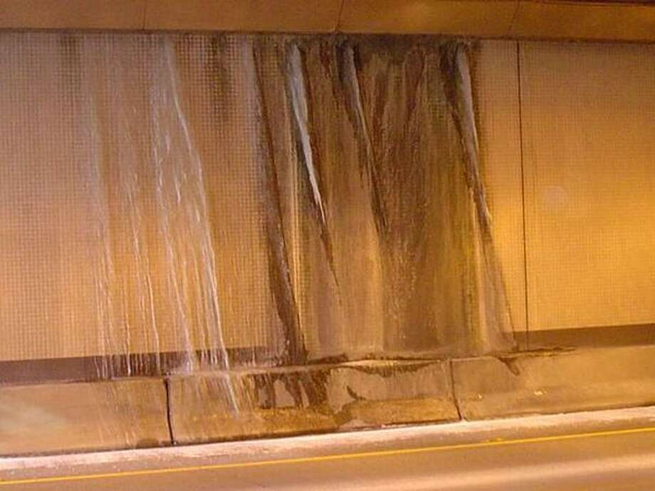 More icicles inside the I-90 Mount Baker tunnel. (Photo: WSDOT).
