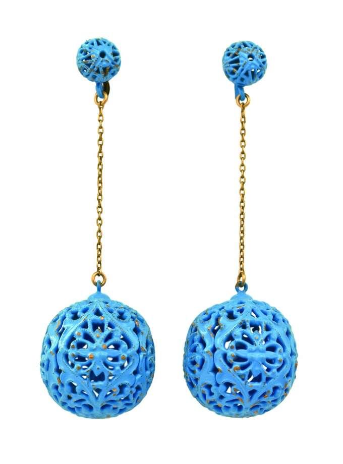 1960s Op Art earrings.
