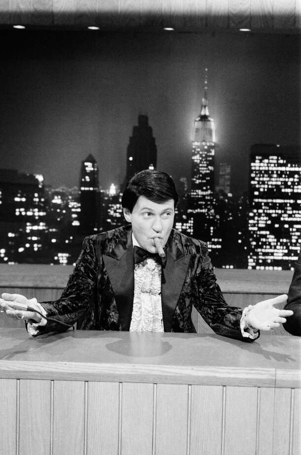 "Billy Crystal as Buddy Young Jr. during a 'Saturday Night News' skit on April 6, 1985. The character, which Crystal performed several times on Saturday Night Live, is the main character in the movie ""Mr. Saturday Night,"" which will be screened at the Avon Theatre at 1 p.m. on Wednesday, Feb. 19, 2014, as part of the FTMA Talk Back Series at the Stamford, Conn. theater. (Photo by: RM Lewis Jr./NBC/NBCU Photo Bank) Photo: Contributed Photo / Stamford Advocate Contributed"