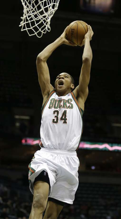 Team Hill Giannis Antetokounmpo, Milwaukee Bucks - Rookie Photo: JEFFREY PHELPS, Associated Press