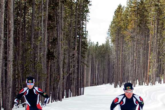Cross-country skiers Gary di Silvestri, right, and Angelica di Silvestri, who live in New York, will represent the Caribbean island nation of Dominica at Sochi.