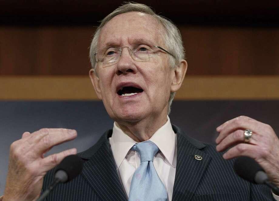 Senate Majority Leader Harry Reid said Republicans thwarted Democratic efforts to pass a bill to extend unemployment benefits. Photo: J. Scott Applewhite / Associated Press / AP