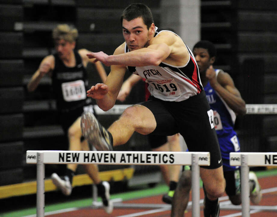 Class L Championship track action at Hillhouse High School's Floyd Little Athletic Center in New Haven, Conn. on Thursday February 6, 2014. Photo: Christian Abraham / Connecticut Post
