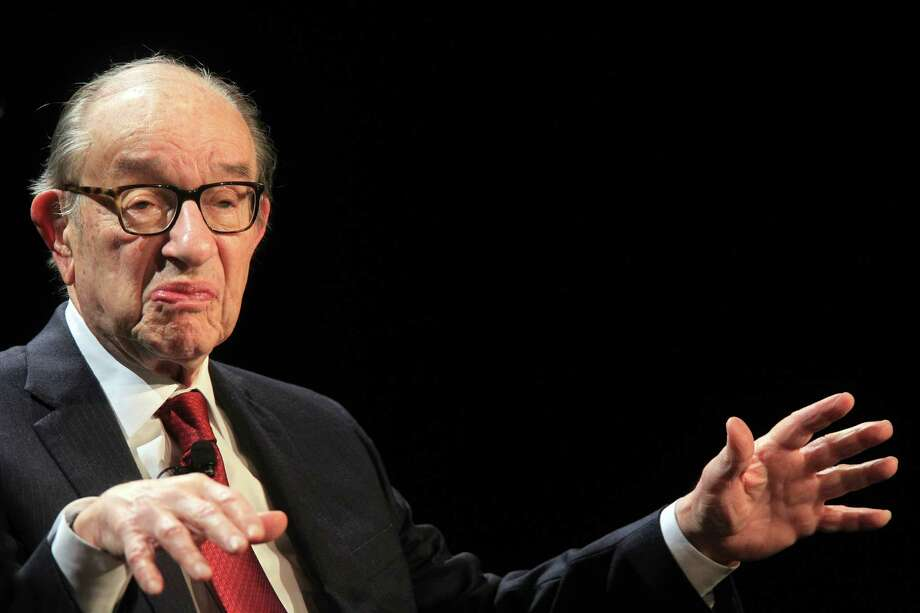 Alan Greenspan called for caution amid the boom, but he said he didn't expect crude prices to drop sharply. iliquate digna augait, sim delesed tismolo bortissi.  Ut iril ut alit iustio consed et aciliquatet dipisl et, sim dolortie molorti smodolobor sustisciduis ad enia Photo: Mayra Beltran, HC Staff / © 2014 Houston Chronicle