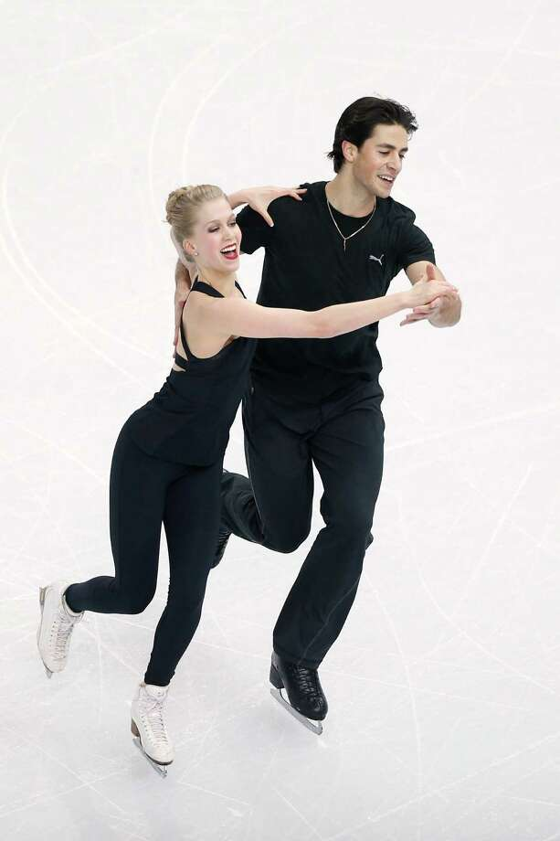 Canadian ice dancer Kaitlyn Weaver, who grew up in Houston, and partner Andrew Poje are medal contenders at Sochi. Photo: Matthew Stockman, Staff / 2014 Getty Images