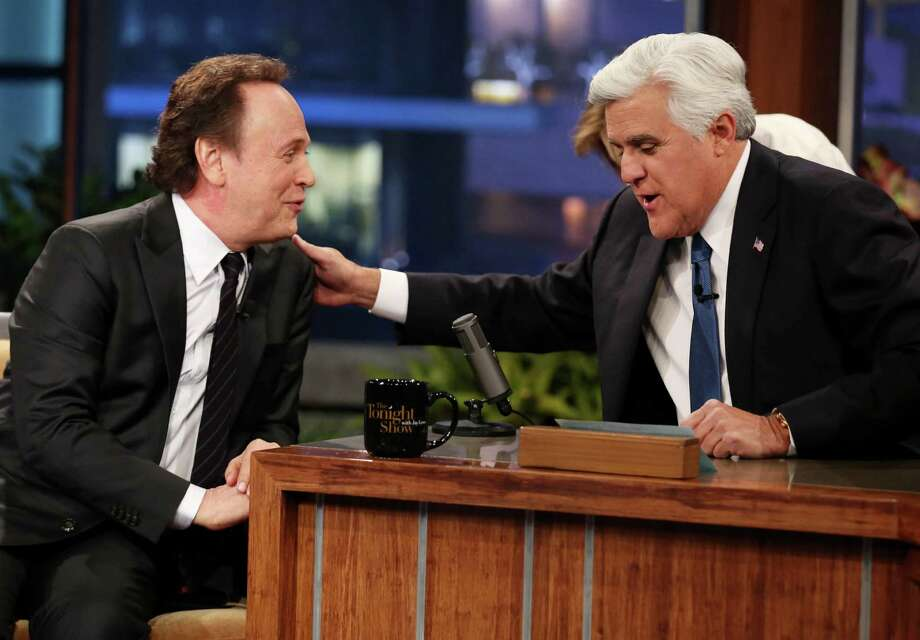 "Billy Crystal, left, who was Jay Leno's first guest when he took over NBC's ""Tonight Show"" in May 1992, returned as his last guest Thursday when Leno ended his two-decade run on late night TV in Burbank, Calif. Photo: Matt Sayles, INVL / Invision"