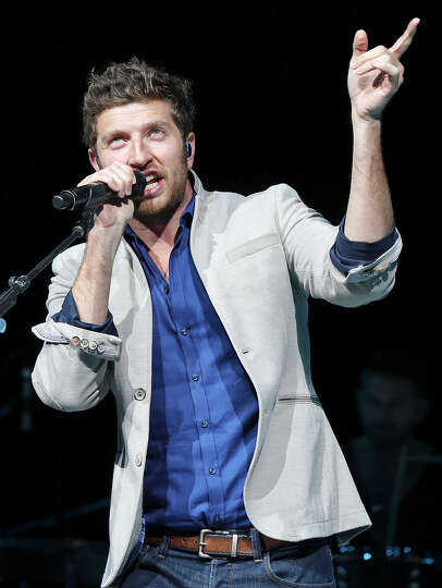 Brett Eldredge performs during the San Antonio Stock Show & Rodeo Thursday Feb. 6, 2014 at the AT&T