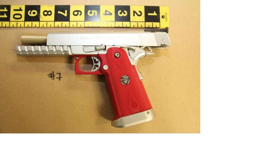 Police say this is the replica handgun that Ariel Levy allegedly brandished when officers performed a welfare check at her apartment on Tuesday, Feb. 4, 2014. Photo: Hayward Police Department