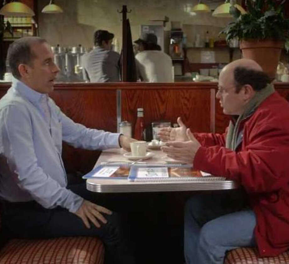 "Who are these people? We'll tell you who: it's Jerry Seinfeld and George Costanza, back together again in this ad for Jerry Seinfeld's web series ""Comedians in Cars Getting Coffee."" The ad aired during the Super Bowl, and quite frankly, had us missing the 1990s (well, except for Newman.) Take a look at the gadgets and gizmos that made the 1990s what they are. Photo: Comediansincarsgettingcoffee.com"