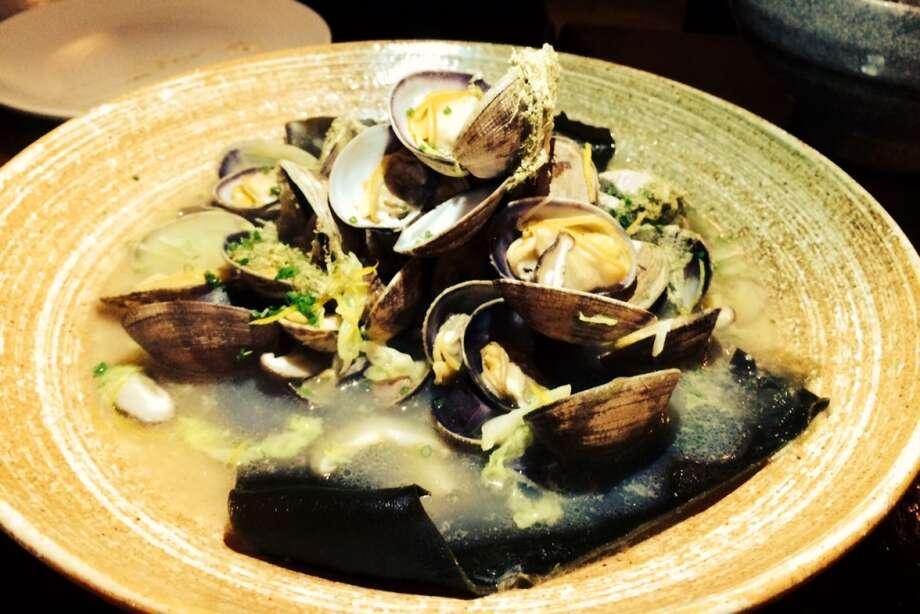 Sake seamed Asari clams at Iyasare in Berkeley ($16)