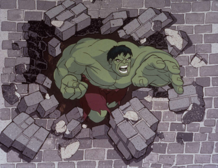 The Incredible Hulk turns green when he is stressed. / handout slide