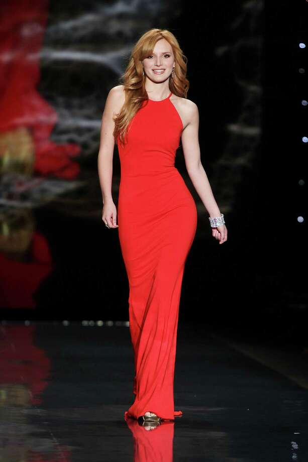 Bella Thorne wearing Badgley Mischka as she participates in the Go Red For Women-The Heart Truth Red Dress Collection show during Fashion Week in New York.  Photo: Amanda Schwab, Associated Press / STARPIX