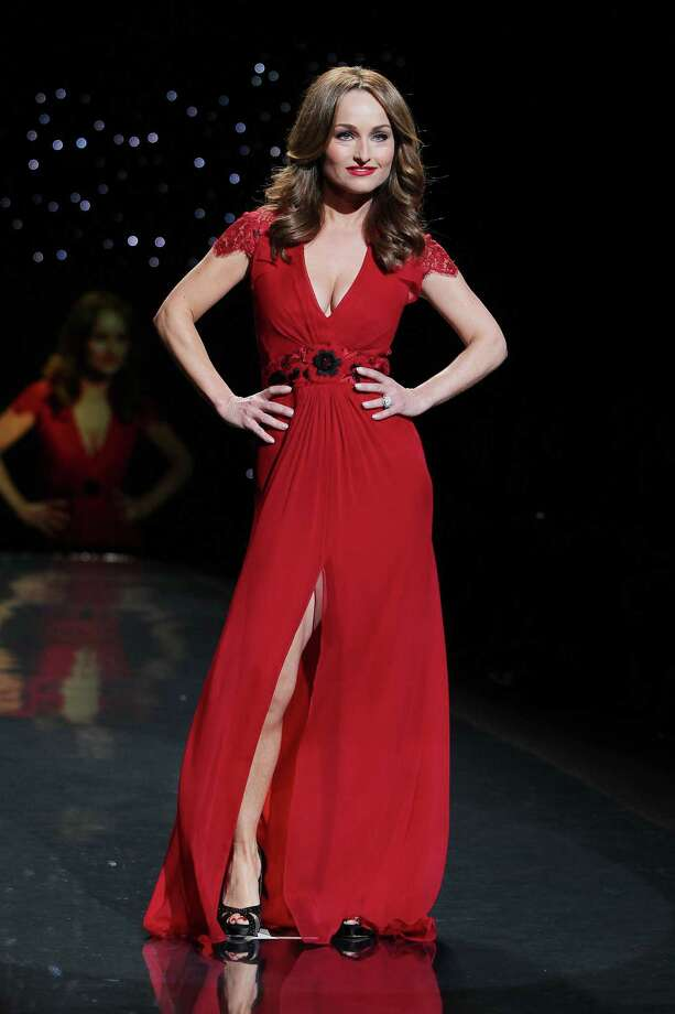 Celebrity chef Giada De Laurentiis wearing Carolina Herrera as she participates in the Go Red For Women-The Heart Truth Red Dress Collection show during Fashion Week in New York. Photo: Amanda Schwab, Associated Press / STARPIX