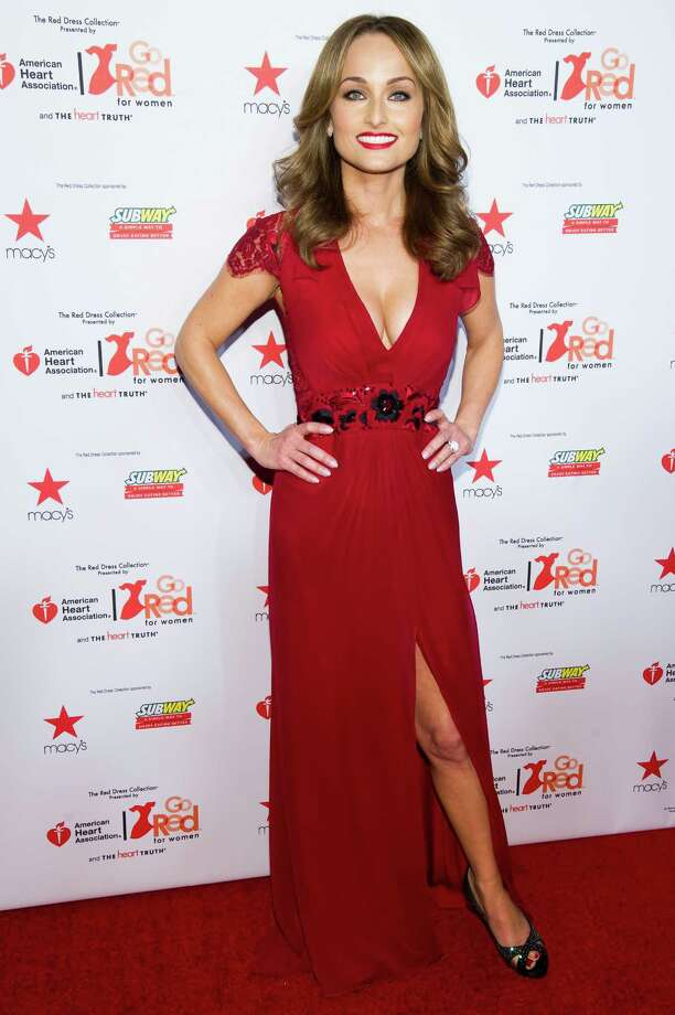 Giada De Laurentiis wearing Carolina Herrera attends the Heart Truth Red Dress Collection fashion show. Photo: Charles Sykes, Associated Press / AP2014