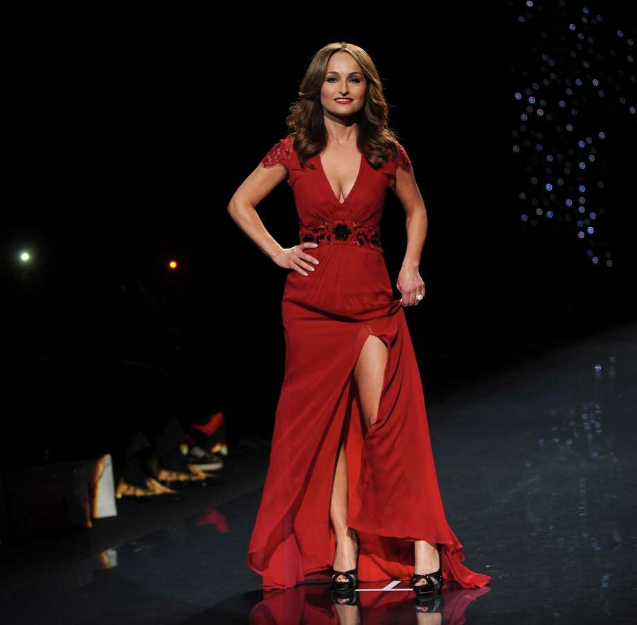 Chef Giada De Laurentiis models an outfit from the 2014 Red Dress Collection on Thursday. Photo: Brad Barket, Associated Press / AP2014