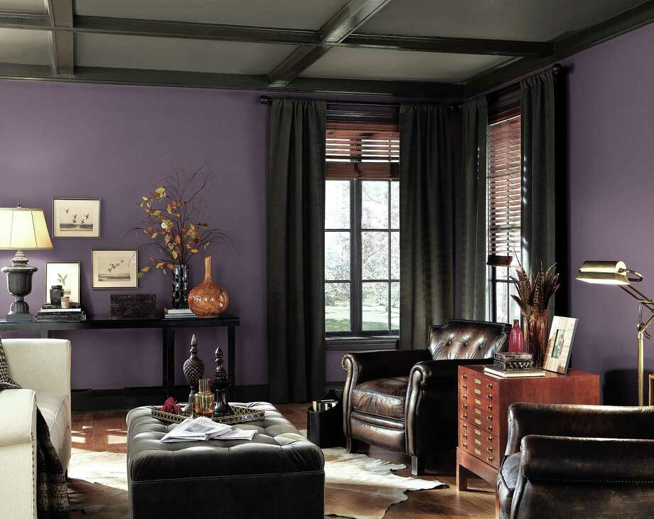Sherwin-Williams named Exclusive Plum as one of its hot hues for the home for 2014. The color can be used in any room and coordinates well with other shades including gray, another popular color this year. Photo: Courtesy Sherwin-Williams / San Antonio Express-News