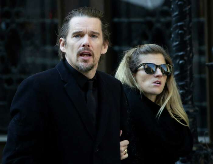 Ethan Hawke arrives for the funeral of actor Philip Seymour Hoffman at the Church of St. Ignatius