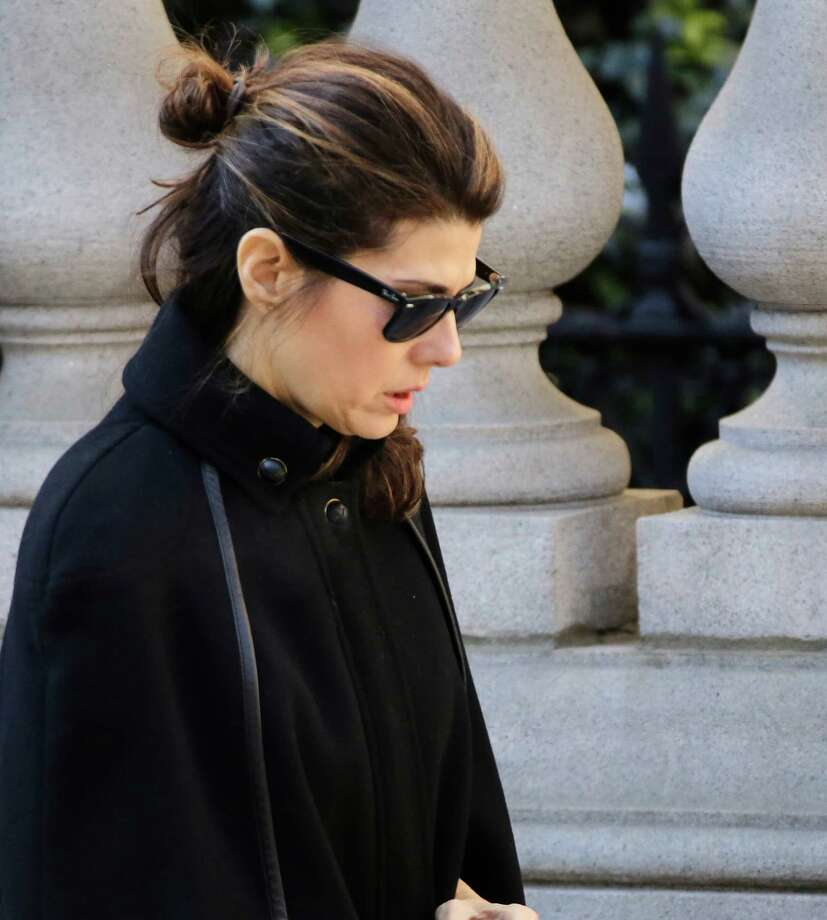 Actress Maria Tomei arrives for the funeral of actor Philip Seymour Hoffman at the Church of St. Ignatius Loyola, Friday, Feb. 7, 2014 in New York. Hoffman, 46, was found dead Sunday of an apparent heroin overdose.   Photo: Mark Lennihan, Associated Press / AP