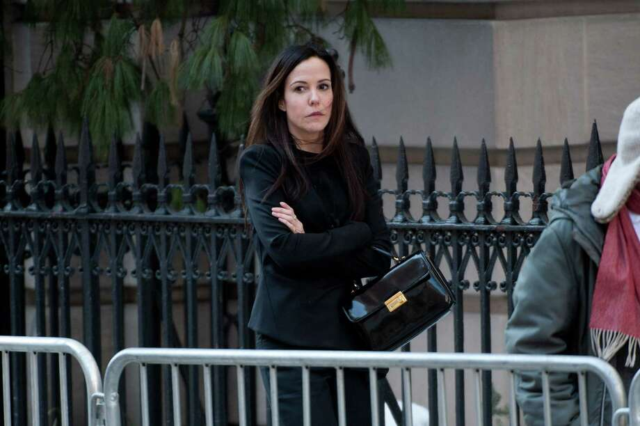 Mary-Louise Parker attends the funeral service for actor Philip Seymour Hoffman at St. Ignatius Of Loyola on February 7, 2014 in New York City. Hoffman died of an alleged drug overdose on February 1, 2014. Photo: D Dipasupil, Getty Images / 2014 Getty Images