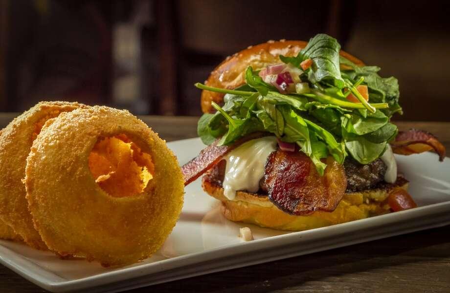 "The ""Fresno Fig Burger"" at Eureka in Berkeley. Photo: John Storey"