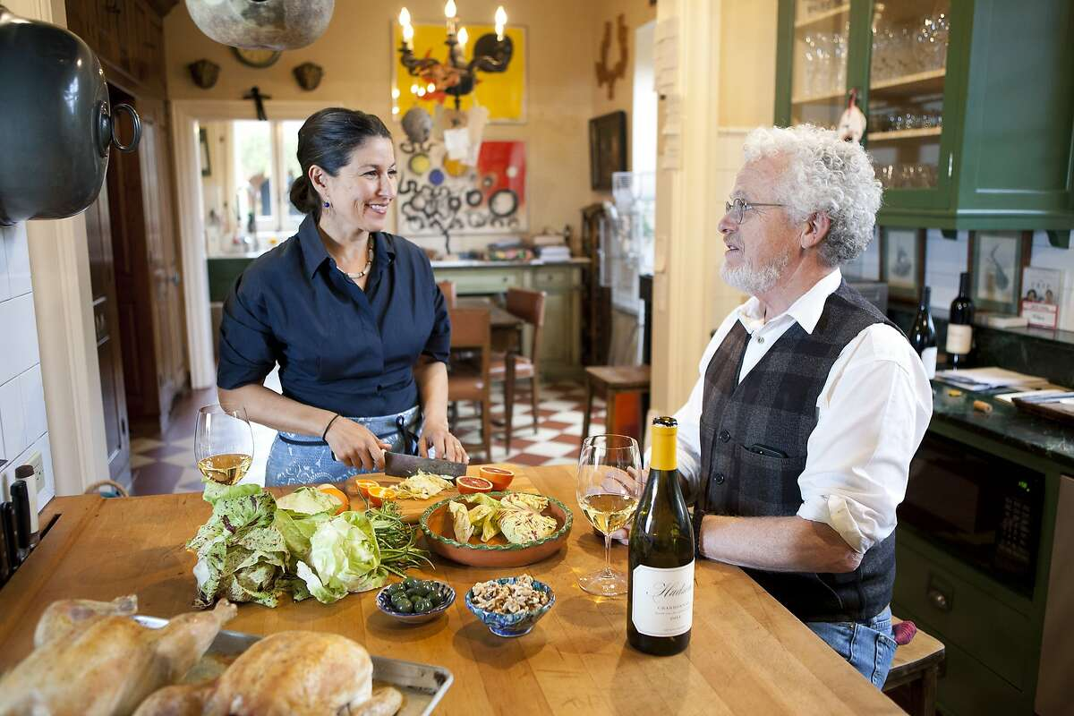 Lee Hudson and his wife Cristina Salas-Porras pose for a portrait in the kitchen of their home on their Hudson Ranch property in Napa, CA, Wednesday, January 29, 2014.