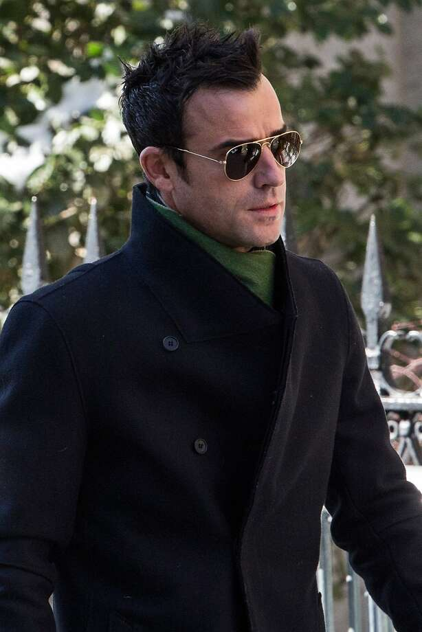 Justin Theroux attends the funeral service for actor Philip Seymour Hoffman who died of an alleged drug overdose on February 1, 2014 at St. Ignatius Of Loyola on February 7, 2014 in New York City.  Hoffman was allegedly found dead in his bathroom with a needle in his arm. Photo: Andrew Burton, Getty Images