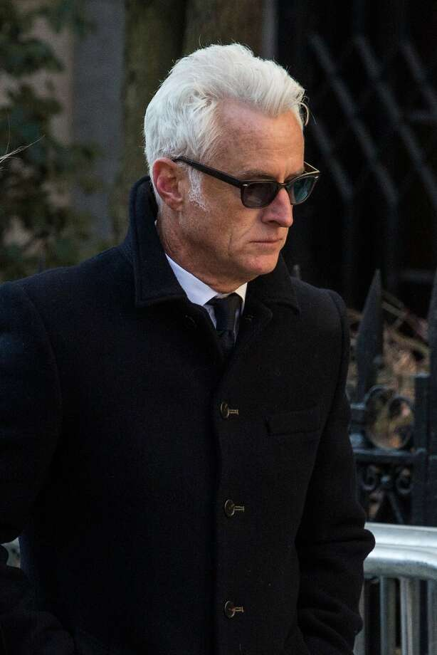 John Slattery attends the funeral service for actor Philip Seymour Hoffman who died of an alleged drug overdose on February 1, 2014 at St. Ignatius Of Loyola on February 7, 2014 in New York City.  Hoffman was allegedly found dead in his bathroom with a needle in his arm. Photo: Andrew Burton, Getty Images